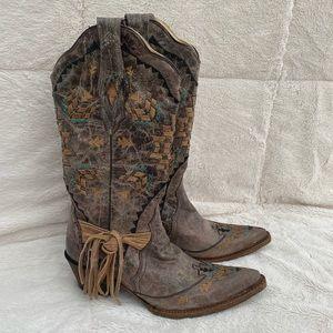 Corral Cango Tobacco Woven Boots